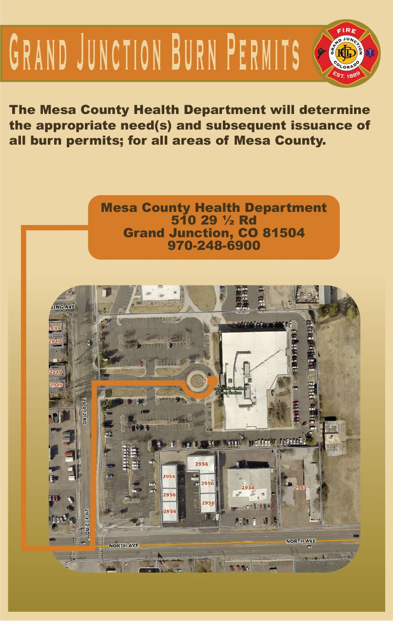Grand Junction Burn Permits Graphic